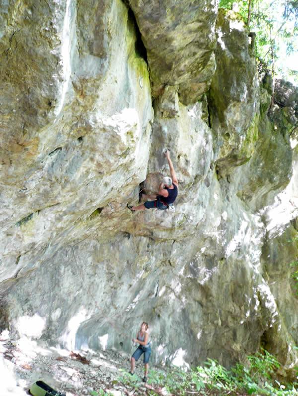 Klettern in der Fränkische Schweiz
