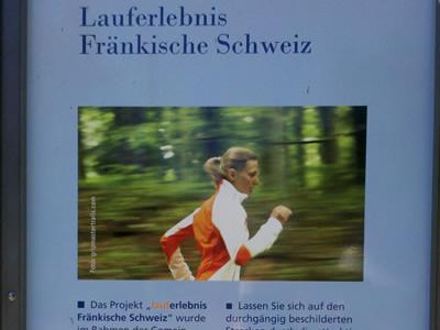 Laufstrecken ab Infozentrum Obertrubach